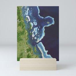 Coral Reefs from space, Fiji Islands Mini Art Print