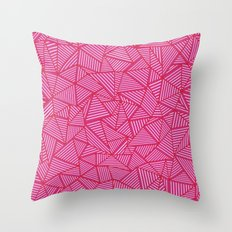 Ab Linear Hot Pink Throw Pillow