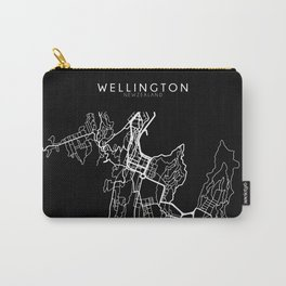 Wellington, New Zealand Street Map Carry-All Pouch