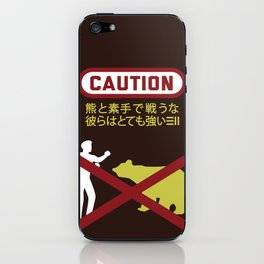 Don't Fistfight the Bears iPhone Skin