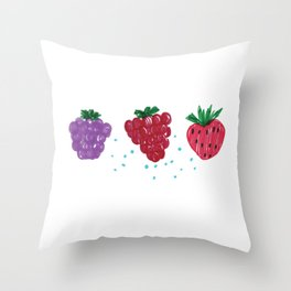 Felt Pen berries drawing Throw Pillow