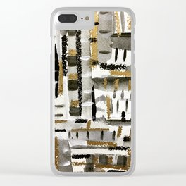 Silvery Gold Clear iPhone Case