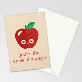 You're the Apple of My Eye Stationery Cards