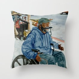 Homeless Series 1 ~ Sunset Blvd., Los Angeles, CA. Throw Pillow