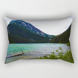 Geraldine Peak as seen from Geraldine Lake in Jasper National Park, Canada Rectangular Pillow