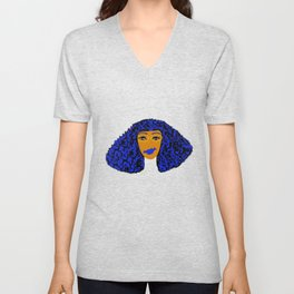 Blue Hair Chick Apparel Unisex V-Neck