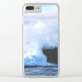 Crashing Tides Clear iPhone Case