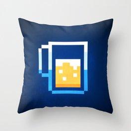 Pixel Beer Throw Pillow
