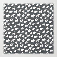 Stars on grey background Canvas Print