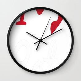 I Love Cats... Wall Clock