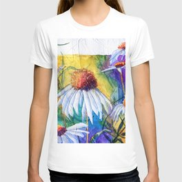 Cone Flowers by Maureen Donovan T-shirt
