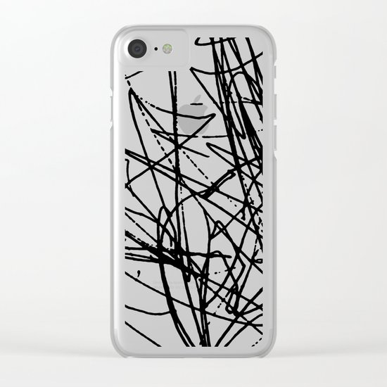 Daisy Scribble Clear iPhone Case
