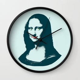 Pop Art Mona Lisa or La Gioconda Wall Clock