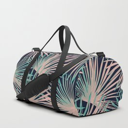 Tropical Fan Palm Leaves #5 #tropical #decor #art #society6 Duffle Bag
