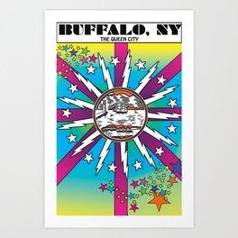 Queen City Pop Art Print