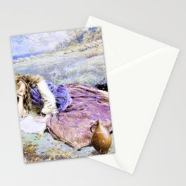 12,000pixel-500dpi - Myles Birket Foster - The shepherdess - Digital Remastered Edition Stationery Cards