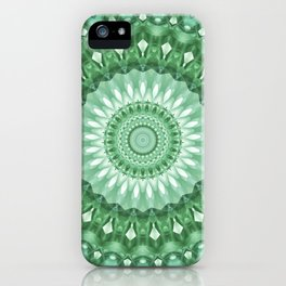 Emerald Green Mandala iPhone Case