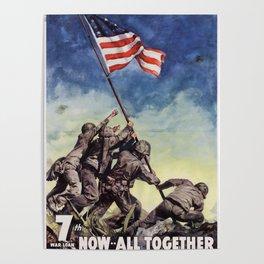 Raising the Flag on Iwo Jima Poster