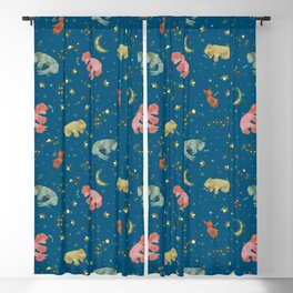 Dog Nights of Summer Blackout Curtain