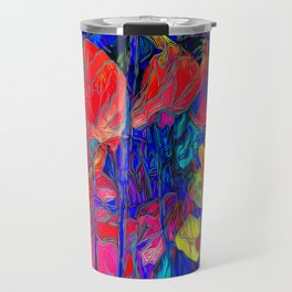 Stained Floral Travel Mug