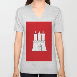 Flag of hamburg Unisex V-Neck