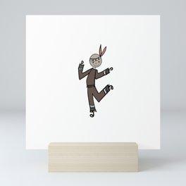 Indian Boy Brown Mini Art Print