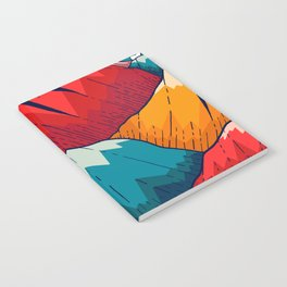 Smoke trail mountains Notebook