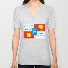 Sochi 2014 flag - Authentic version Unisex V-Neck