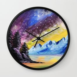 Interstellar Landscape Wall Clock
