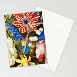 Colorful Still Life with Flowers and Insect Stationery Cards