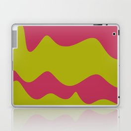 Ribbons: Fuchsia & Lime Laptop & iPad Skin