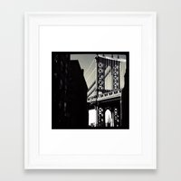 brooklyn Framed Art Prints featuring brooklyn by trebam