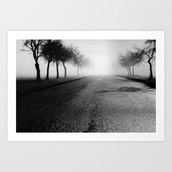 Pearly road Art Print