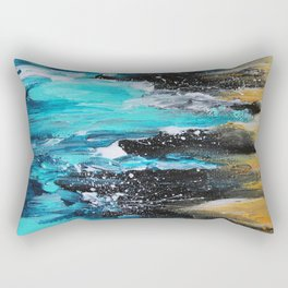 The Salty Sea Abstract Landscape Rectangular Pillow