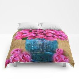 BALL MASON JAR AND ROSES Comforters
