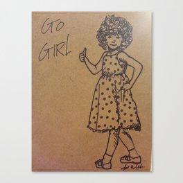 Go Girl Canvas Print