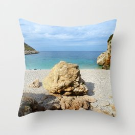 SICILIAN SEA SOUND Throw Pillow