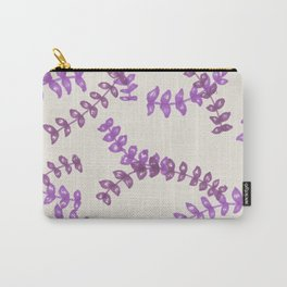 Purple lilac lavender leaves pattern Carry-All Pouch