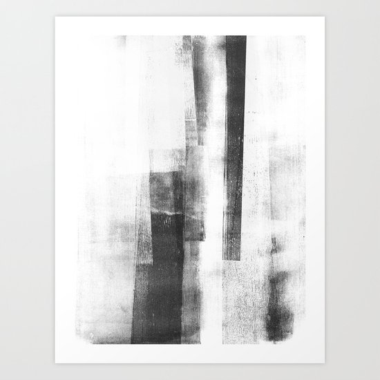 """Black and White Minimalist Geometric Abstract Painting """"Structure 3"""" by mininst"""