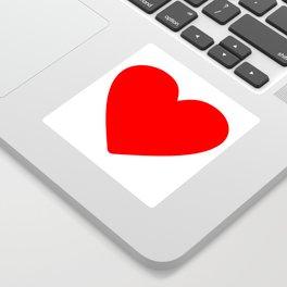 Red heart in white Sticker