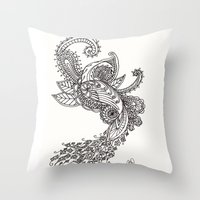 paisley Throw Pillows featuring Paisley by Bethany Pease