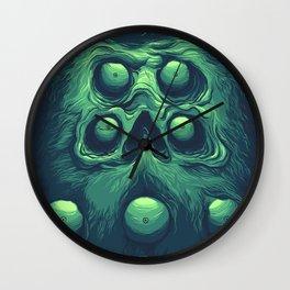 Beard Eyes Skull Wall Clock