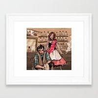 western Framed Art Prints featuring Western by sacari