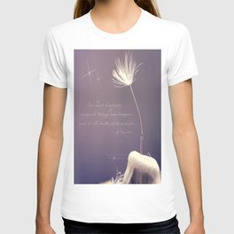 It all starts with A wish  T-shirt