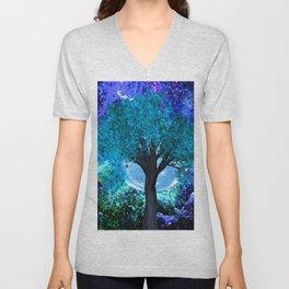 TREE MOON NEBULA DREAM Unisex V-Neck