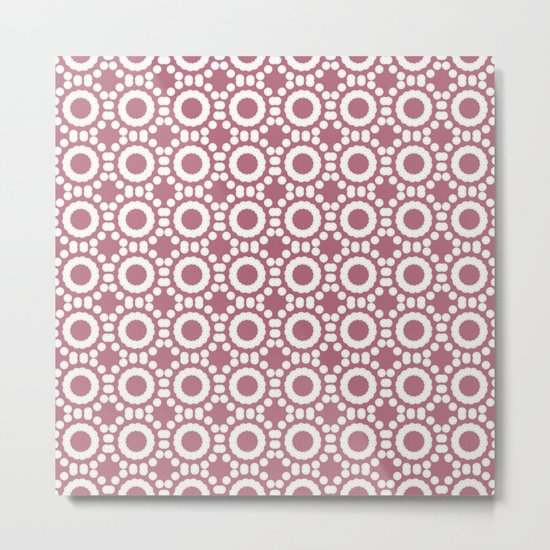 Round and Round Dusty Rose Metal Print