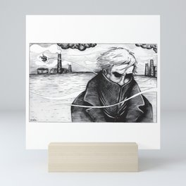 lonely man Mini Art Print