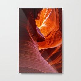SCULPTURE OF NATURE ANTELOPE CANYON ARIZONA PHOTOGRAPHY Metal Print