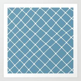 Fisherman Net in Blue Jean Art Print