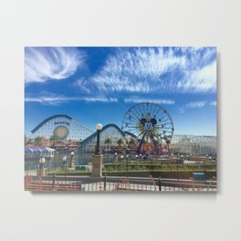 California Adventure: Mickey's Fun Wheel Metal Print